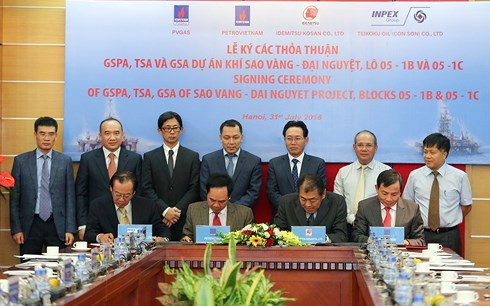 Ký Hợp đồng mua bán khí (GSPA) giữa PVN và các Chủ mỏ Lô 05-1b & 05-1c
